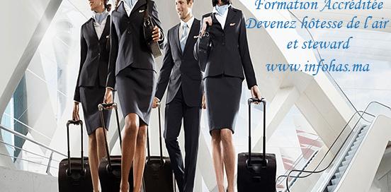 formation hôtesse de l'air et steward au Maroc